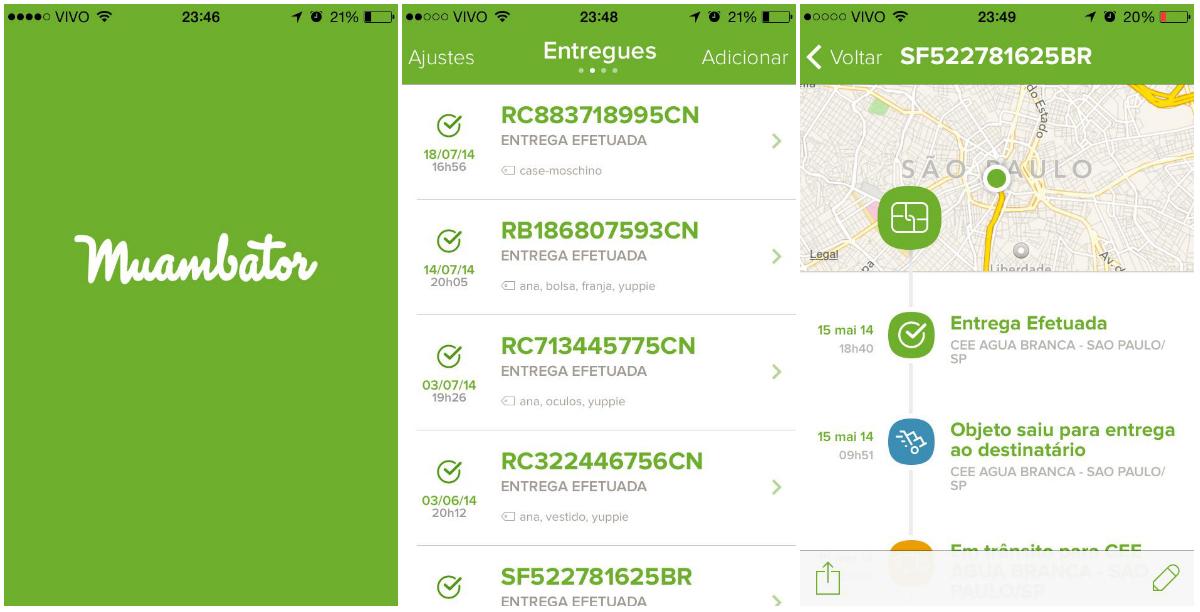 cb2b4afc2 AppsQueAmamos  Gerencie seus pedidos on-line com o Muambator
